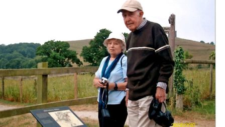 Annette's parents during her father's final trip to Abbotsbury
