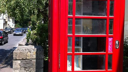 The Yatton phone box after its transformation