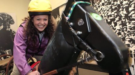 Racehorse simulator at the National Racehorse Museum
