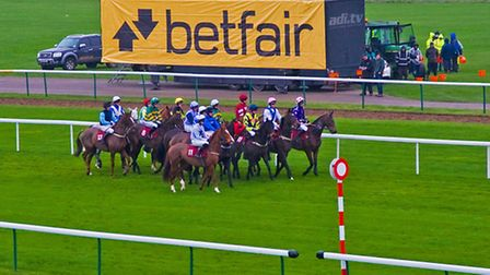 Action on the racecourse