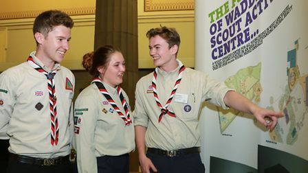 West Lancs Scout Leaders; Oliver Wood, Gemma Pascoe and Ryan McKeown