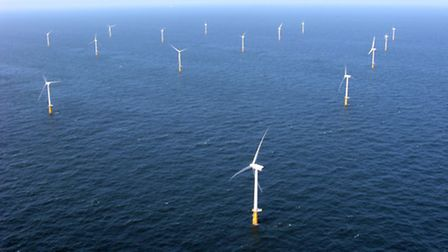 Artist's impression of an off shore wind park