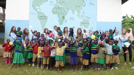 Acle High School pupils in Tanzania
