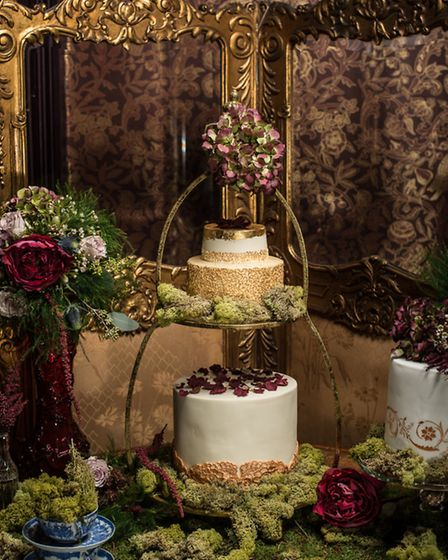Vicki and Brian Ormerod created a Victorian cake for the shoot