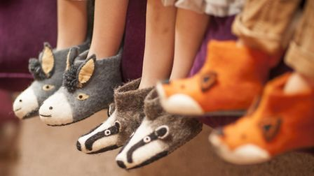 Animal slippers from Sew Heart Felt, Coccolino