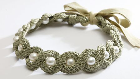 A beautiful sage-coloured necklace