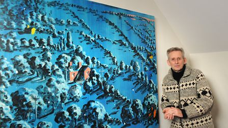 At home with painter Graham Crowley.