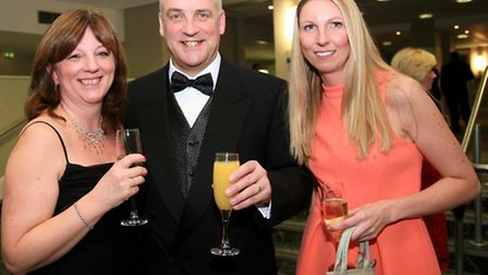 Janine and Howard Farrall with Carys Green