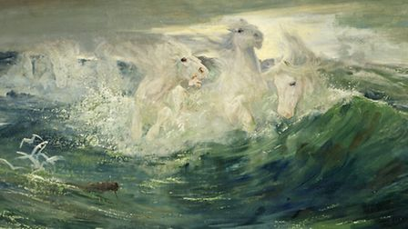 Lucy Kemp-Welch's extraordinary 'Foam Horses' (1896) - Reproduced courtesy of David Messum Fine Art