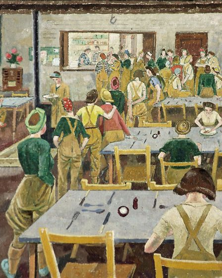 Evelyn Dunbar's 'Women's Land Army Hostel' (1939) - photo by Russell-Cotes Collection