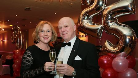 Hosts, Peter and Ann Marie Bull who celebrated 25 years marriage and Ann Marie's 50th birthday in su