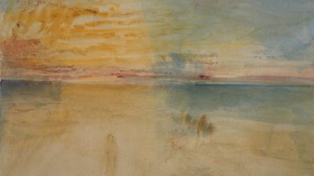 J.M.W. Turner 'Sunset on Wet Sand' 1845. Coutesy of the Whitworth