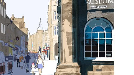 This scene, left, of Lancaster City Museum, is by Lancashire Life artist Nick Oliver. See more of hi