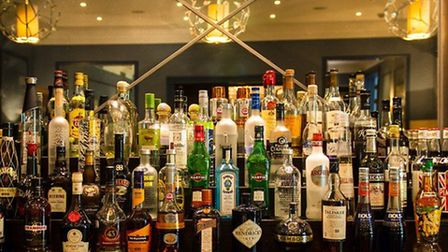 The back bar selection at The Montague.