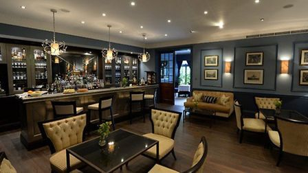 The Montague bar at the Royal Crescent Hotel.
