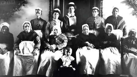 Wimborne Union Workhouse inmates and staff Christmas 1905 - Photograph courtesy of Priest's