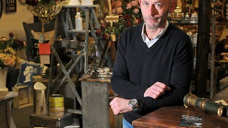 Stephen Heathfield owner of Holt Antiques and Interiors Centre.Picture: ANTONY KELLY