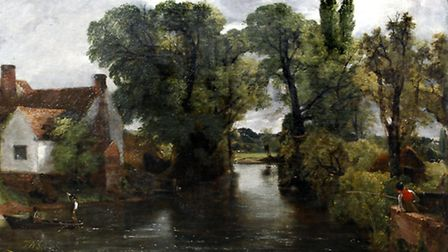 The celebrated John Constable painting the Millstream. Picture: Paul Nixon Photography