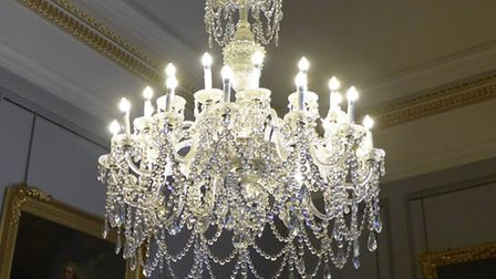 Nat Trust chandelier at Ickworth, with LED bulbs