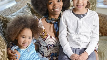 Anna Mudeka withe her daughters, Carly and Evie