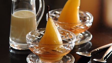 Poached pears. Picture: DENISE BRADLEY