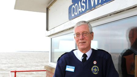 Neil Statter who is station manager of the Gorleston National Coastwatch Institution. South Pier, Go