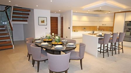 Kitchen and dining area on the ground floor