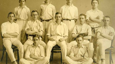 The cricket team in 1915