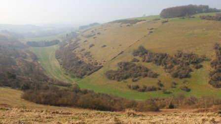 Longcombe Bottom from the valley head path - photo by Edward Griffiths