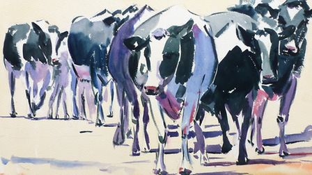 Cows from autumn by Marilyn Allis
