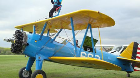 Lesley Nicholson, 72, will be doing a wing-walk to raise money for Parkinson's UK.Picture: ANTONY K
