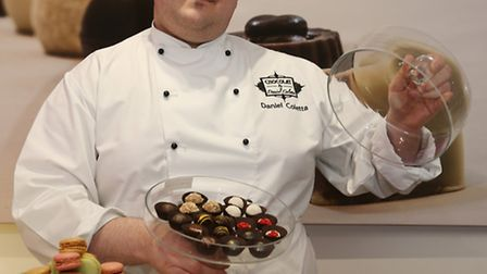 Daniel Coletta with a selection of his chocolates