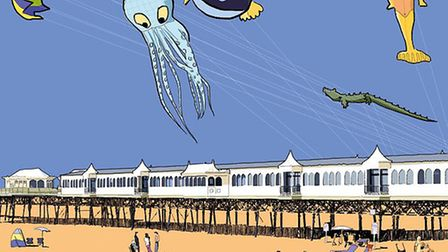 St Annes Kite Festival is by Lancashire Life artist Nick Oliver. See more of his work at www.smilecr