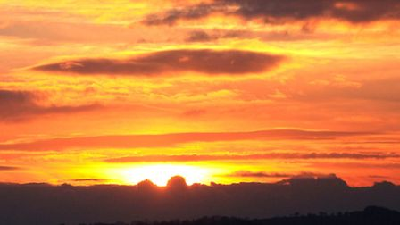 Sunset from Coram Wood