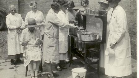 The Preservation Centre in Brooke producing jam during the First World War