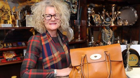 Veronica Martin shows what's in her bag Picture by: Sonya Duncan