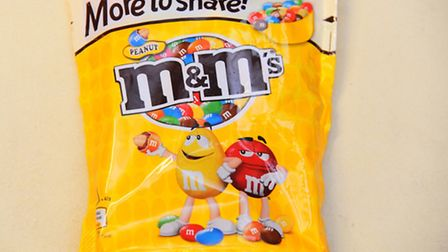 Peanut M&M's. Picture by: Sonya Duncan