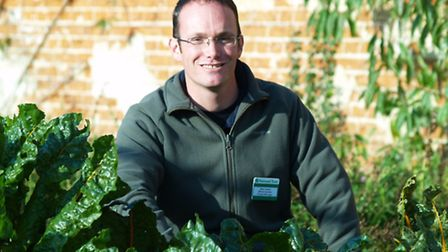 Mike Bowers, project manager for the Blickling walled garden regeneration project. Photographer: Jo