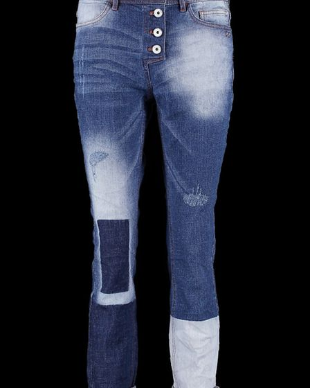 Taifun patchwork jeans by House of Gerry Weber, £95. From House of Gerry Weber, Dorchester, 01305 21
