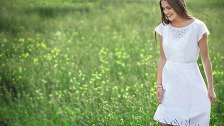 WHITES Becca Broderie dress, £95, People Tree, from a selection at Kimmeridge, Christchurch, 01202 4
