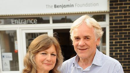 Vanessa and Richard Draper, founders of the Benjamin Foundation. Picture: Denise Bradley