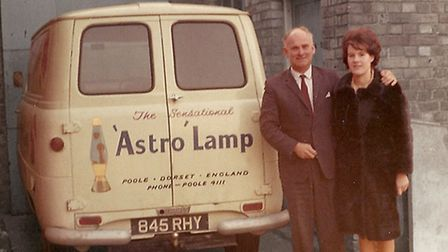 The inventor of the lava lamp Edward Craven Walker and his wife and business partner Christine with