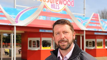 Liam Holmes, General Manager at Pleasurewood Hills. Picture: James Bass