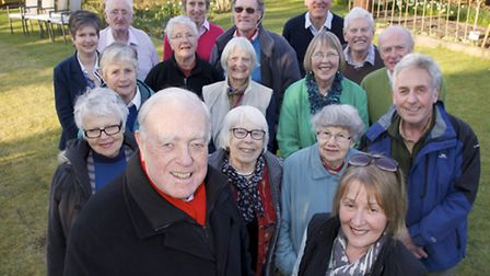 Members of The Holt Society to celebrate thier 50th anniversary. Pictured at front from left Steve B