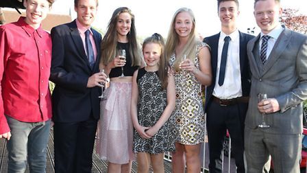 Alfie, Jonathan, Katie, Libby, Emily, Joe and Oliver Topping