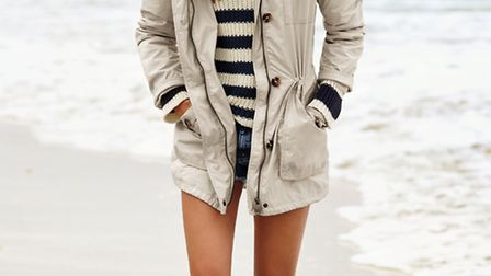The practical parka is a style classic this one has been updated for summer with patch pockets and