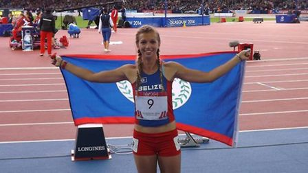 Katy Sealy competing for Belize at the Commonwealth Games