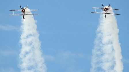 Wing walkers at Blackpool airshow 2014 by Nicola McEwen