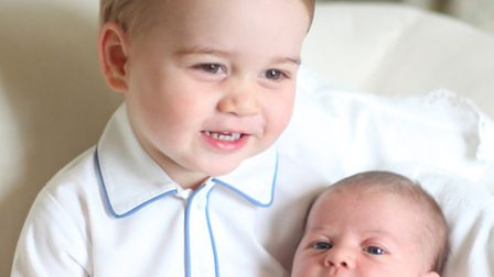 Prince George and Princess Charlotte. Taken by the Duchess in mid-May at Anmer Hall in Norfolk.
