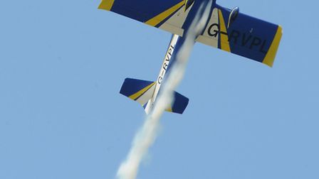The Vans RV7, flown by Matt Summers, at last year's Old Buckenham Airshow. Get ready for more stunni